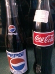 Coke & Pepsi In Glass  Bottle
