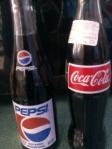 Coke & Pepsi In Glass  Bottle