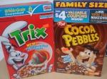 Cocoa Pebbles & Trix Cereals